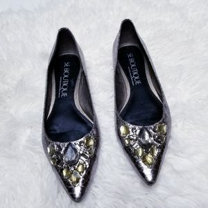 Sam edelman inga jeweled pointed toe flats